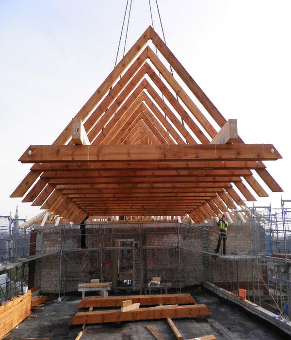 fliegender Dachstuhl